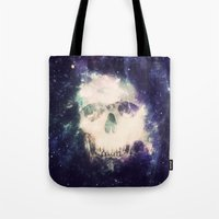 dead space Tote Bags featuring Dead Space by Nicholas Redfunkovich