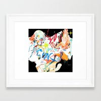 cunt Framed Art Prints featuring YOU FUCKING CUNT by Kira Leigh