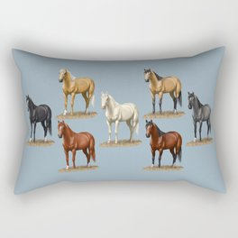 Horse Common Solid Coat Colors Chart Rectangular Pillow
