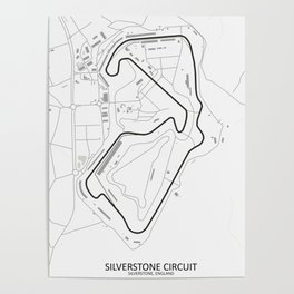 Silverstone Circuit Map Poster