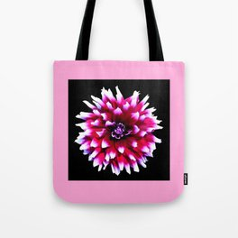 Dahlia in pink, red Tote Bag