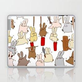 Every bunny was kung fu fighting Laptop & iPad Skin