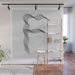 ''Dove Collection'' - Minimal Letter F Print Wall Mural