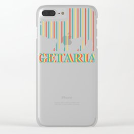 Vegetarian Vegan Gift Vegetarian Vegetables Clear iPhone Case
