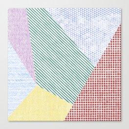 Chalk Patterns Canvas Print