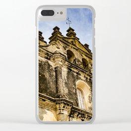 View of the Top of the Catholic Church Iglesia La Merced, Granada, Nicaragua Clear iPhone Case