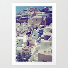 Oia, Santorini, Greece Art Print