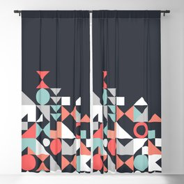 Modern Geometric 30 Blackout Curtain
