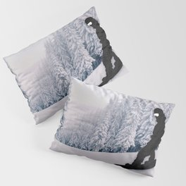 Snowboarding Pillow Sham