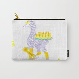 Birthdays are Coming - Midas is Ready - Christmas Lavender Giraffe Carry-All Pouch