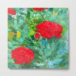 Nicolae Tonitza Red Roses Metal Print