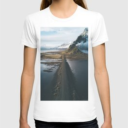 Mountain road in Iceland - Landscape Photography T-shirt