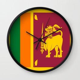 Flag of sri Lanka -ceylon,India, Asia,Sinhalese, Tamil,Pali,Buddhist,hindouist,Colombo,Moratuwa,tea Wall Clock