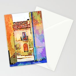 Borrello: alley and building Stationery Cards