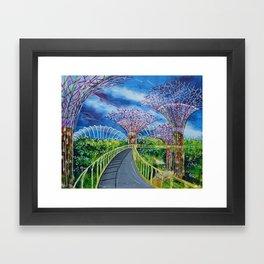 Super Supertrees Framed Art Print