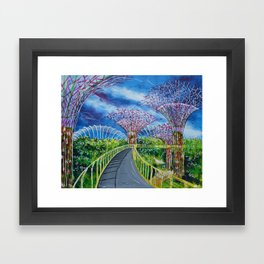 Super Supertrees Framed Art Print