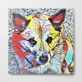 Color Kick - Dog (R) Metal Print