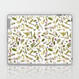 Greenery Floral Pressed Flowers Laptop & iPad Skin