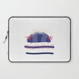 Retro 17th Birthday with palm trees Laptop Sleeve