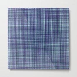 Blue textile Metal Print