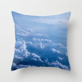 Above Clouds Throw Pillow
