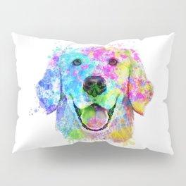 Golden Retriever Watercolor, Watercolor Dog, Golden Retriever Art Pillow Sham
