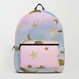 Pastel Starry Sky Moon Dream #1 #decor #art #society6 Backpack