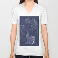 jelly fish V-neck T-shirts featuring Jelly Fish by Jessica Bowman Illustrates
