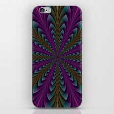 Spear Points in Purple and Green iPhone & iPod Skin