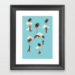 Flight of the Wiener Dogs Framed Art Print