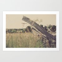 battlefield Art Prints featuring Battlefield Fence by Sam Wesselhoft
