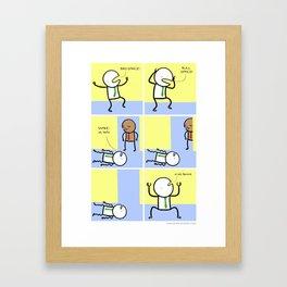 Antics #070 - truly a rare talent Framed Art Print