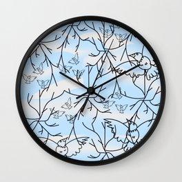 """Trees And Birds"" Wall Clock"