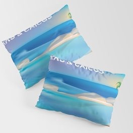 Turks and Caicos - Skyline Illustration by Loose Petals Pillow Sham