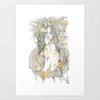 blossom Art Prints featuring //blossom// by Cassidy Rae Marietta