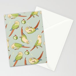 Green cheek conures all-over Stationery Cards