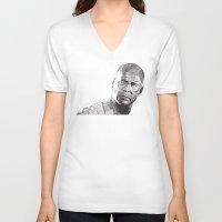 bruce springsteen V-neck T-shirts featuring Bruce by Rik Reimert