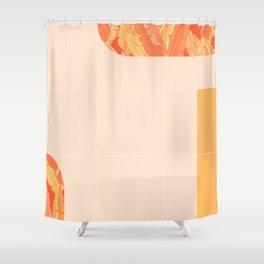 Mid-Century Tropical Orange Mood #society6 #tropical Shower Curtain