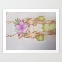 Woodland Nymph Art Print