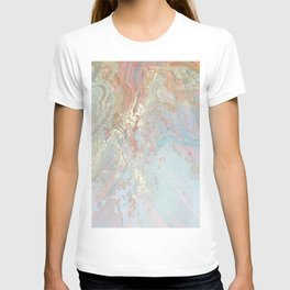 Pastel unicorn marble T-shirt