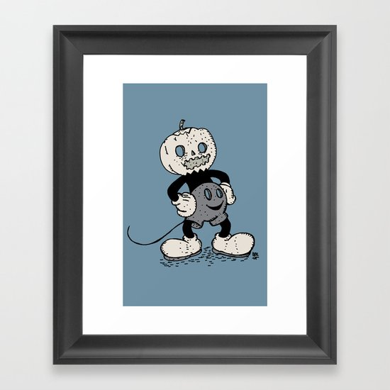 Mickey Pumpkin (desaturated) Framed Art Print
