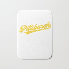 Womens Pittsburgh Pride | Pittsburgh Football Pirate Baseball Gift V-Neck T-Shirt Bath Mat