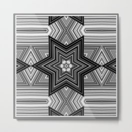 Black and white abstract pattern. Graphics. Metal Print