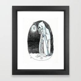 The Hermit Skeleton Tarot Framed Art Print