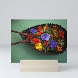 Flowers salads Mini Art Print
