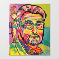 dr seuss Canvas Prints featuring Dr. Seuss by Kelsey Gilman7