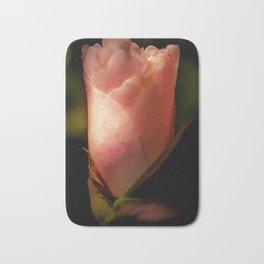 pale pink camellia Bath Mat