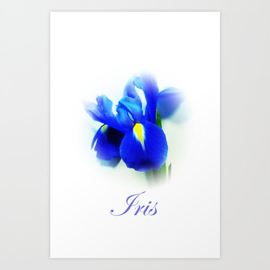 Iris iphone case Art Print