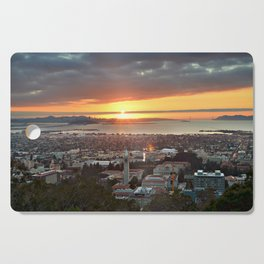 View of San Francisco Bay Area at Sunset from UC Berkeley Cutting Board