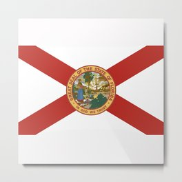 florida state flag united states of america country Metal Print